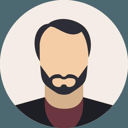 Männlicher Platzhalter Portrait