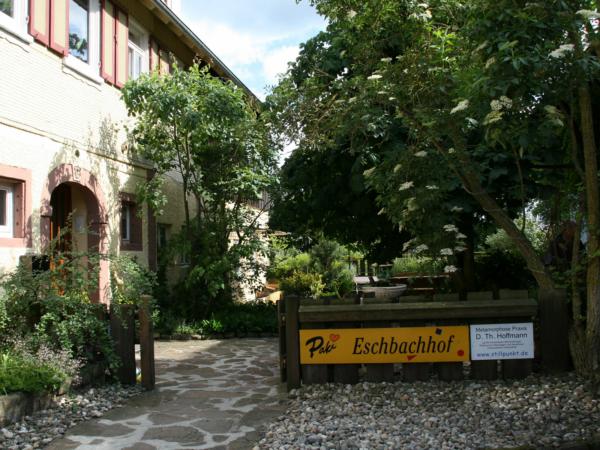 Eingangsbereich der Stottertherapie in Süddeutschland