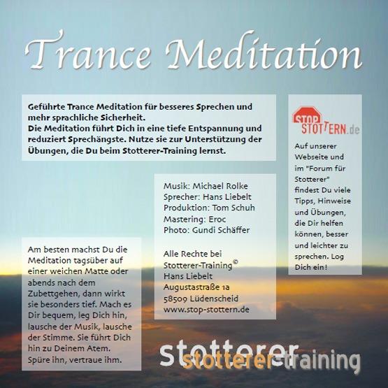 Back Cover der Trance Meditation für Stotterer - Geführte Trance Meditation für besseres Sprechen