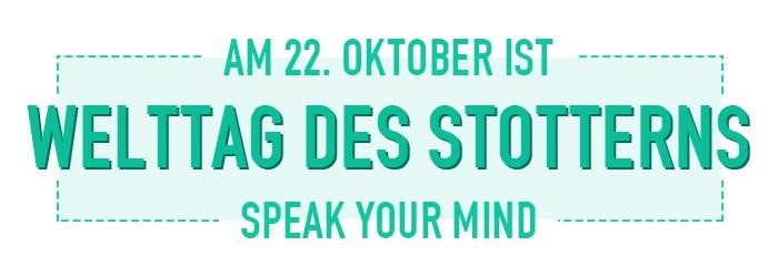 Am 22. Oktober ist der Welttag des Stotterns